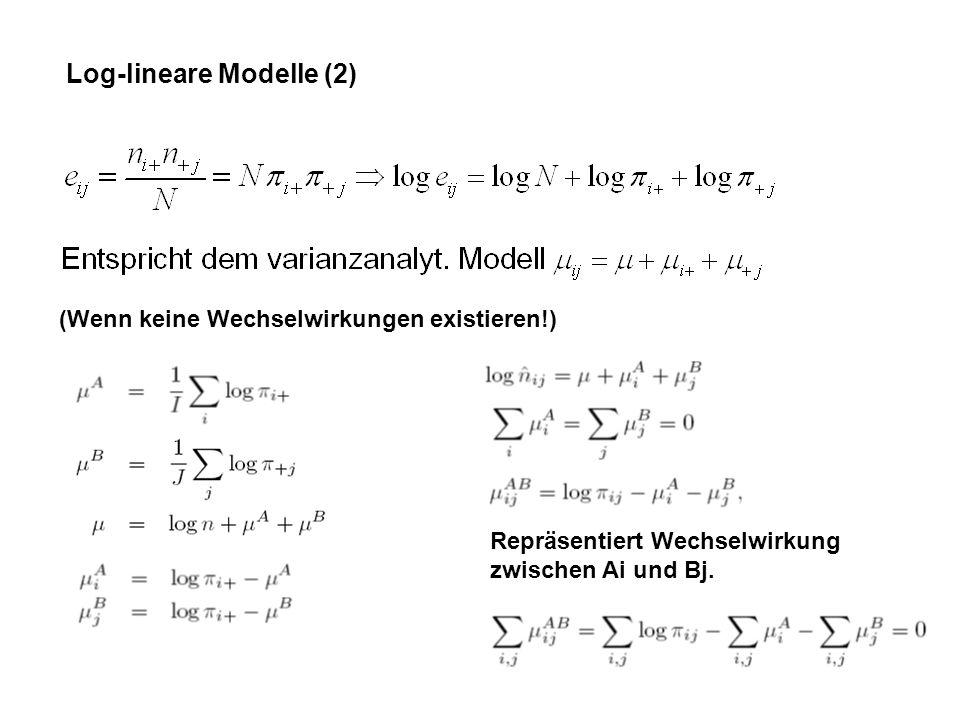 Log-lineare Modelle (2)
