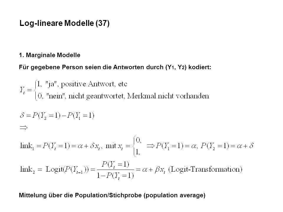 Log-lineare Modelle (37)