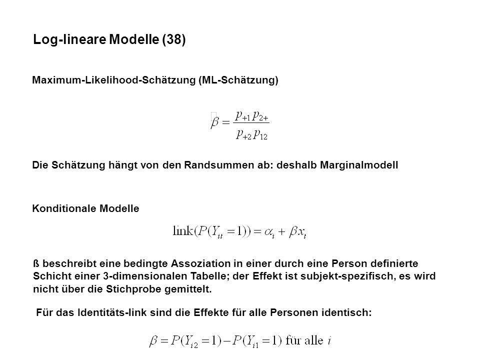 Log-lineare Modelle (38)