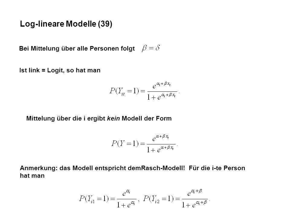 Log-lineare Modelle (39)