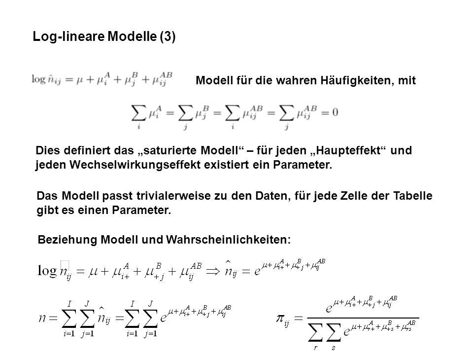 Log-lineare Modelle (3)