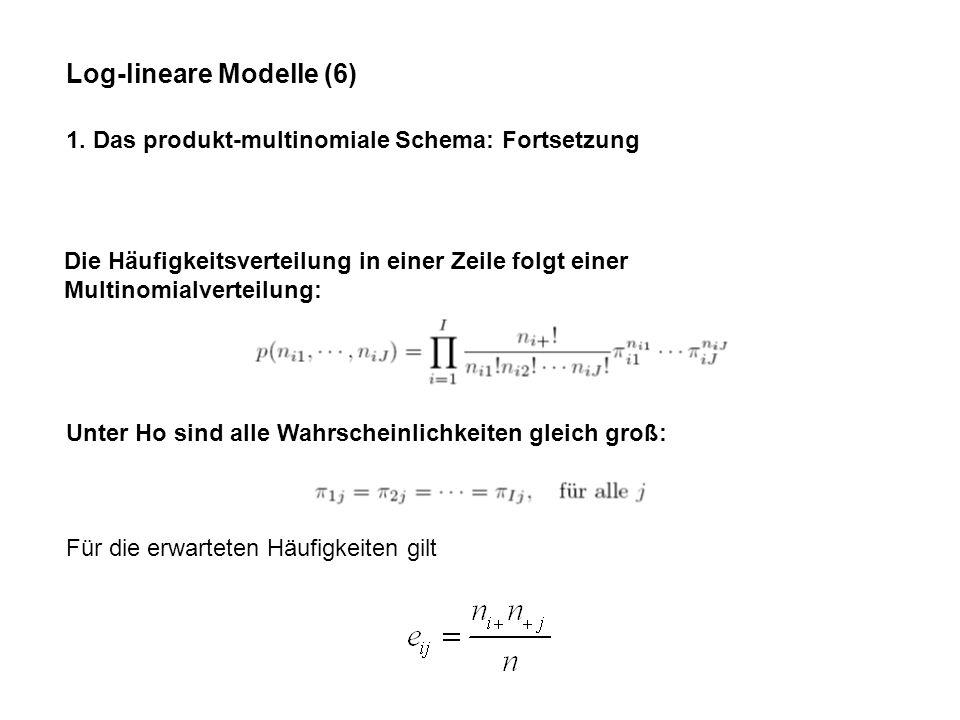 Log-lineare Modelle (6)