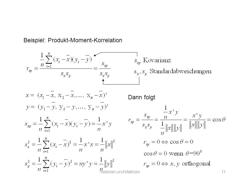 Beispiel: Produkt-Moment-Korrelation