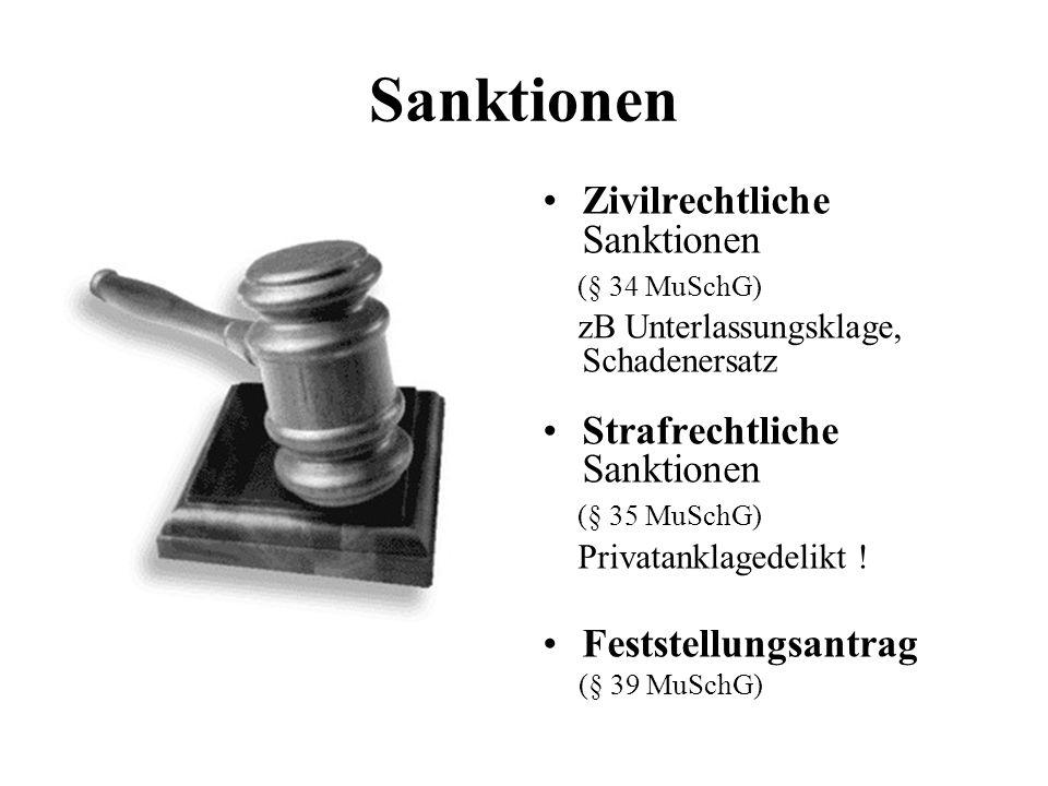 Sanktionen Zivilrechtliche Sanktionen Strafrechtliche Sanktionen