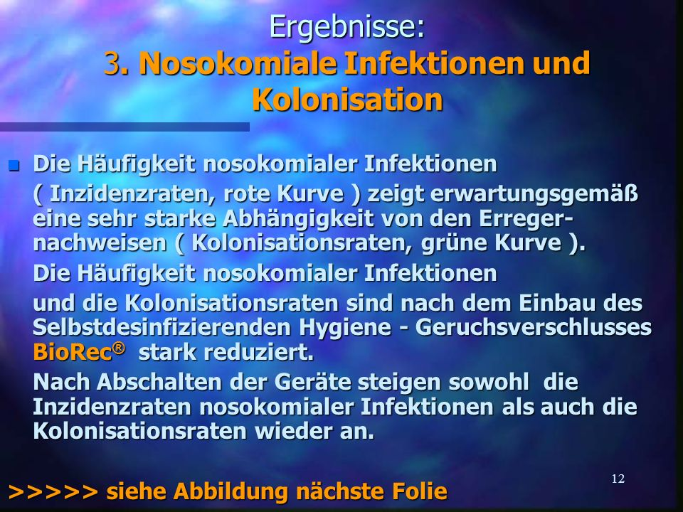 Ergebnisse: 3. Nosokomiale Infektionen und Kolonisation