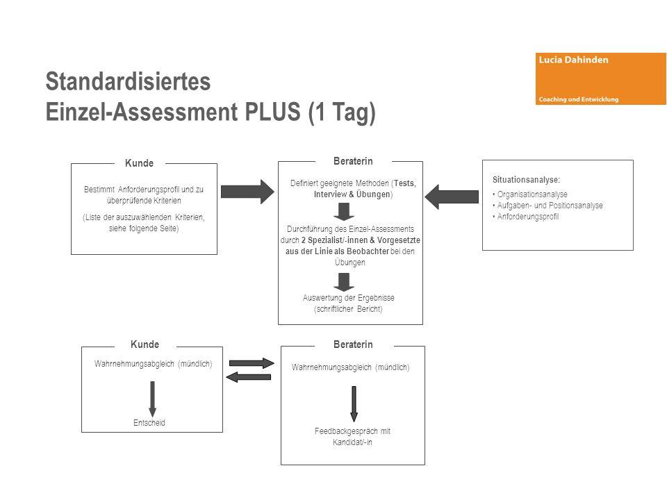 Einzel-Assessment PLUS (1 Tag)