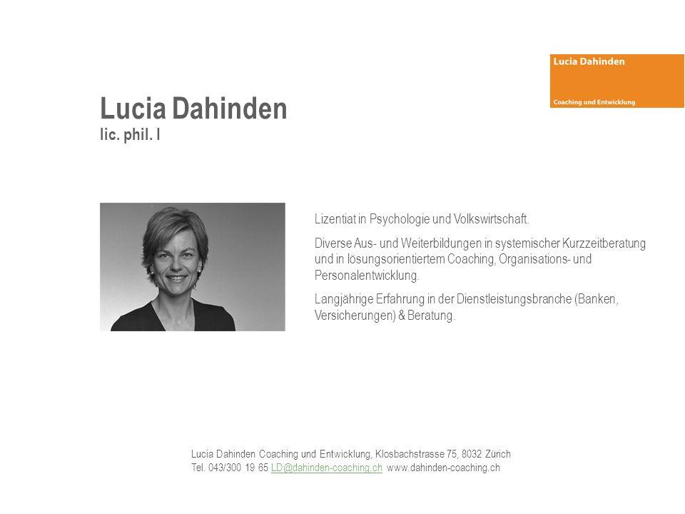 Lucia Dahinden lic. phil. I