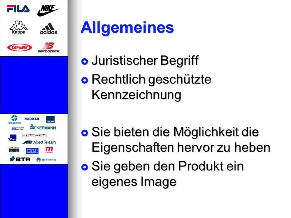 Allgemeines Juristischer Begriff Rechtlich geschützte Kennzeichnung
