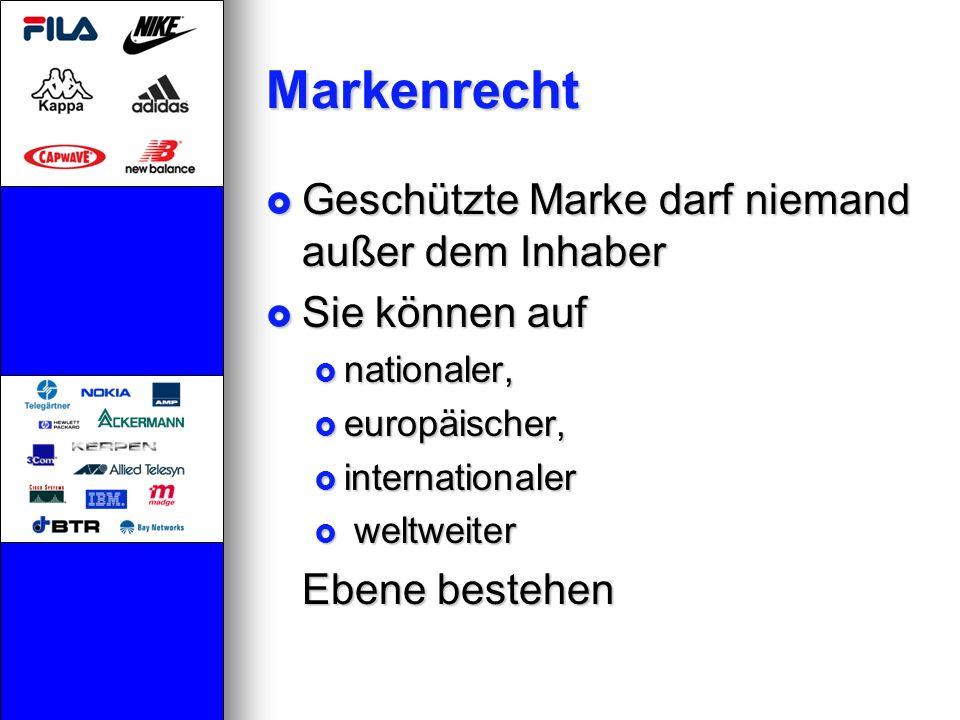 Markenrecht Geschützte Marke darf niemand außer dem Inhaber