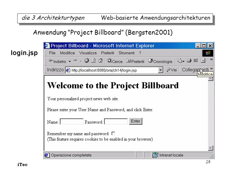 Anwendung Project Billboard (Bergsten2001)