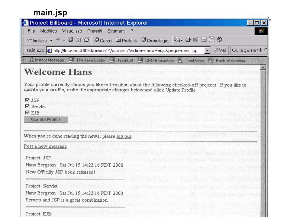 main.jsp die 3 Architekturtypen Web-basierte Anwendungsarchitekturen