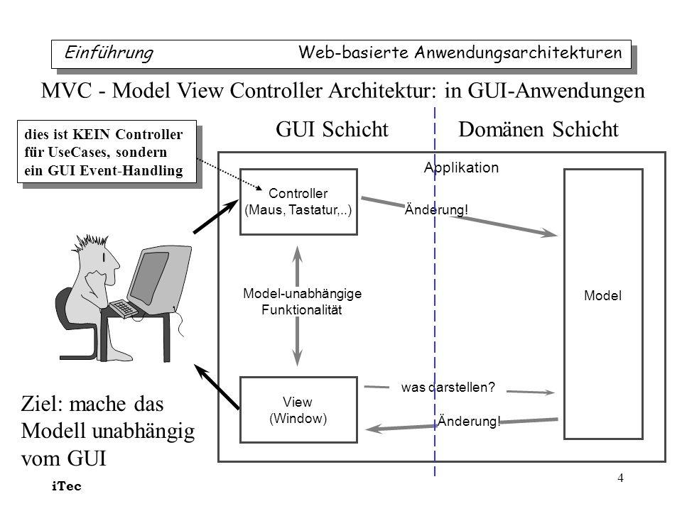 MVC - Model View Controller Architektur: in GUI-Anwendungen
