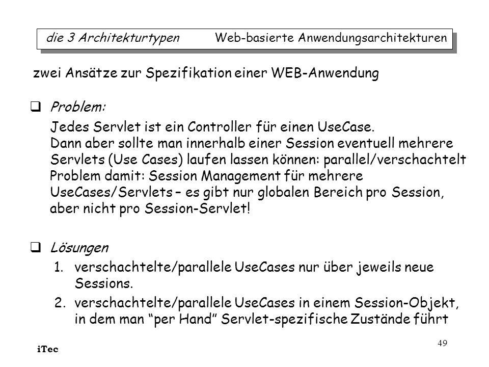 zwei Ansätze zur Spezifikation einer WEB-Anwendung