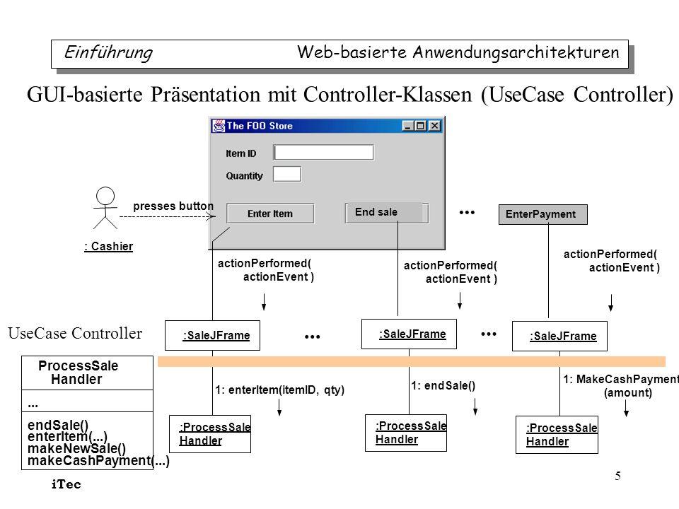 GUI-basierte Präsentation mit Controller-Klassen (UseCase Controller)