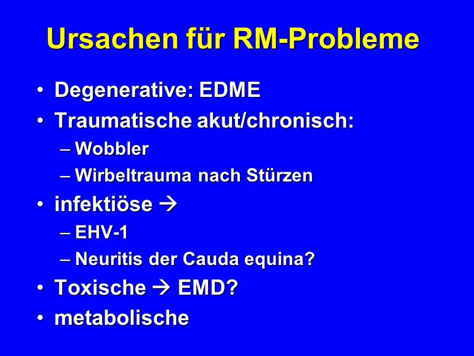 Ursachen für RM-Probleme