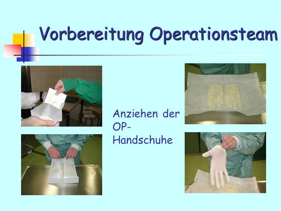 Vorbereitung Operationsteam