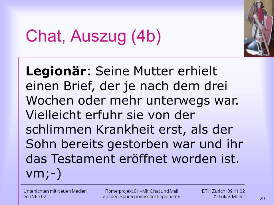 Chat, Auszug (4b)