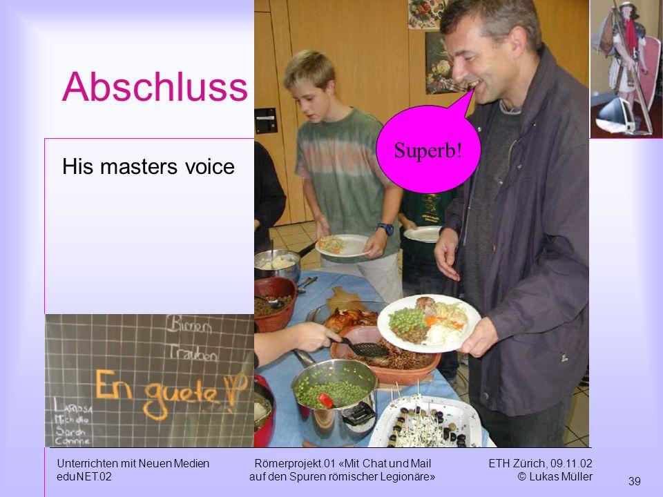 Abschluss Superb! His masters voice Unterrichten mit Neuen Medien