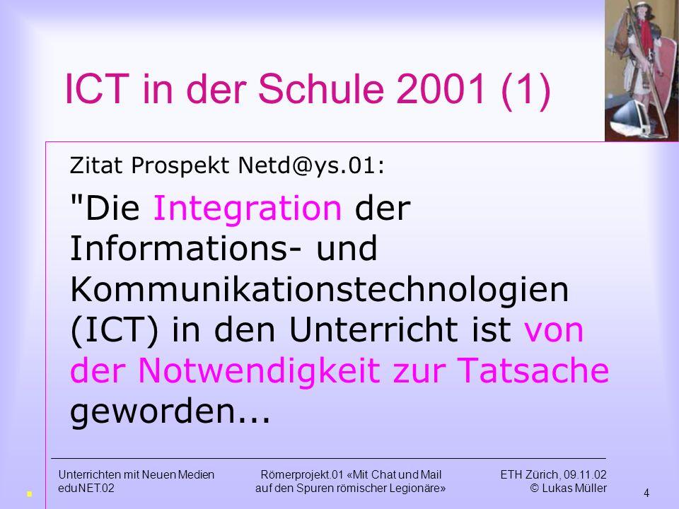 ICT in der Schule 2001 (1) Zitat Prospekt Netd@ys.01: