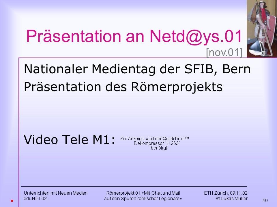 Präsentation an Netd@ys.01