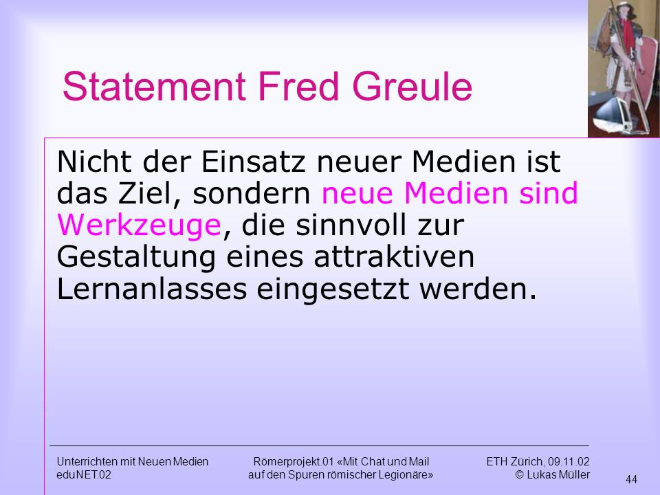 Statement Fred Greule