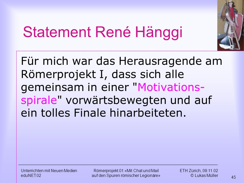 Statement René Hänggi