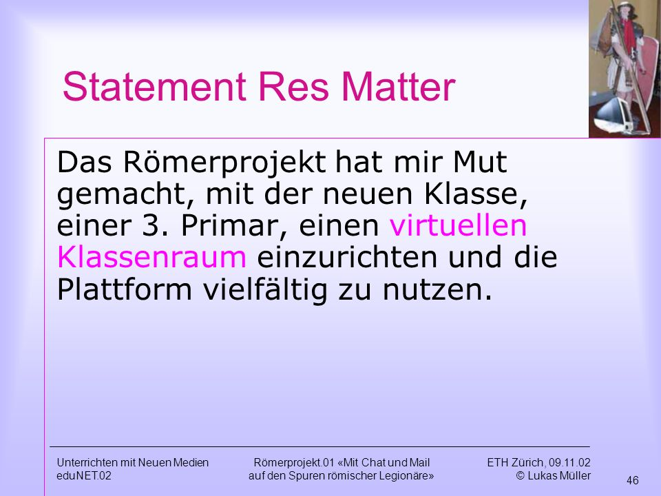 Statement Res Matter