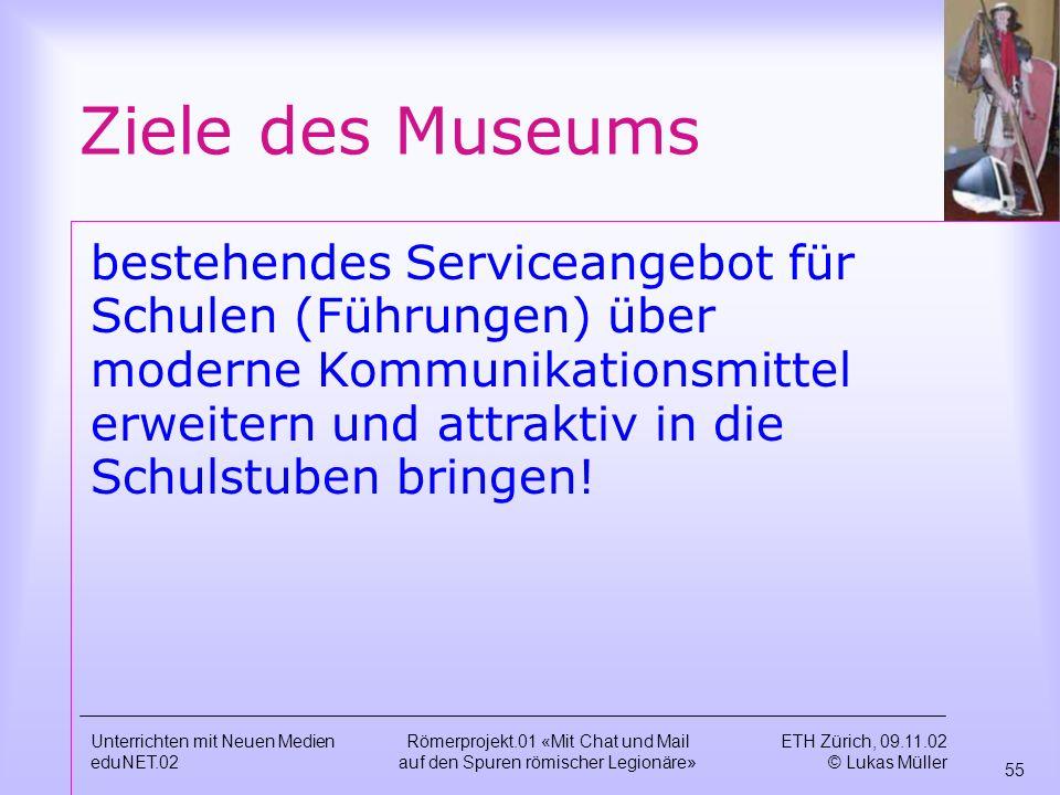 Ziele des Museums