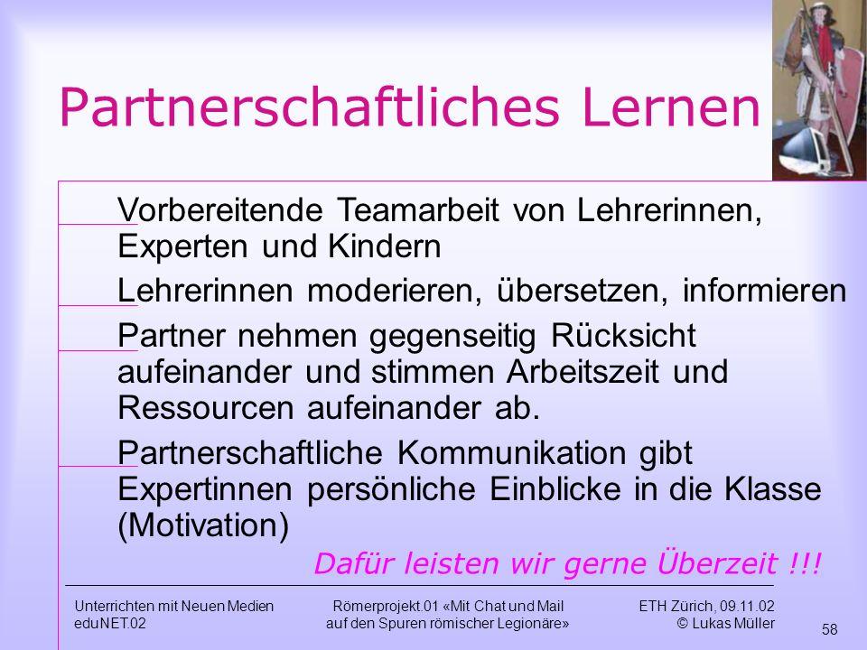 Partnerschaftliches Lernen