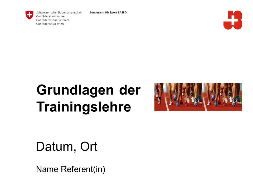 Grundlagen der Trainingslehre