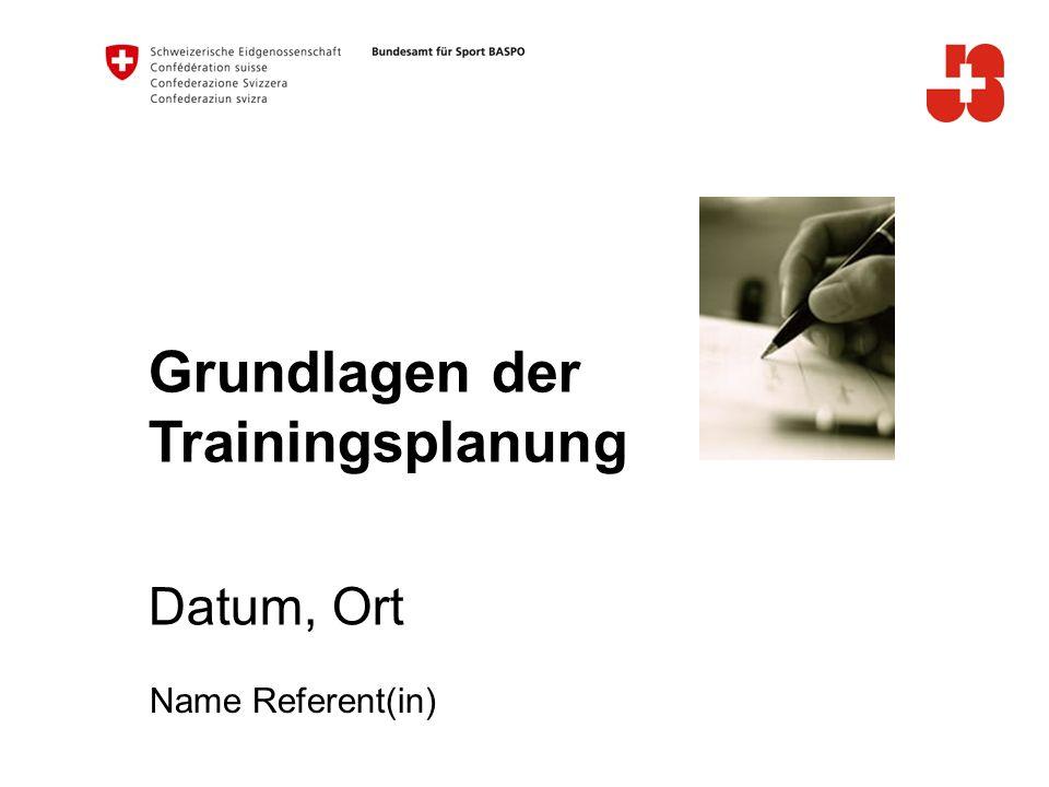 Grundlagen der Trainingsplanung