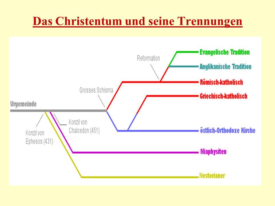 Das Christentum und seine Trennungen
