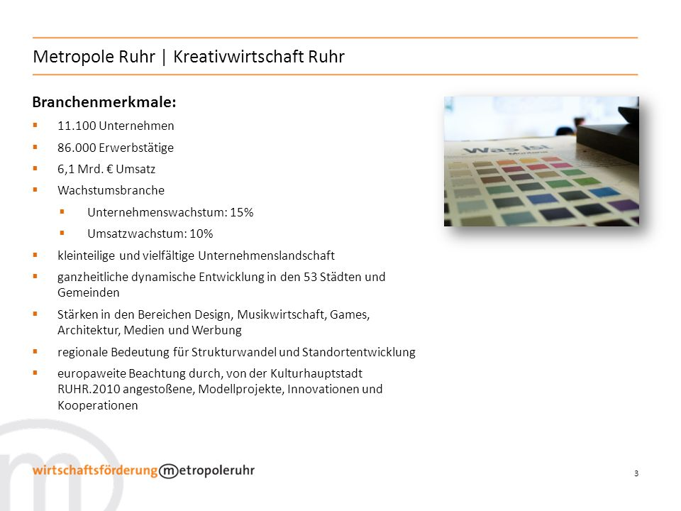 Metropole Ruhr | Kreativwirtschaft Ruhr
