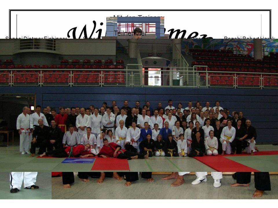 Mit den Trainern: Teilnehmer Shihan Jhonny Bernaschevice