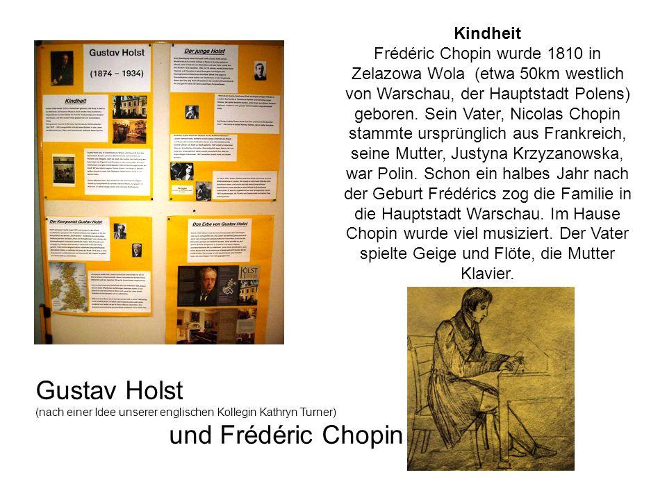 Gustav Holst und Frédéric Chopin Kindheit