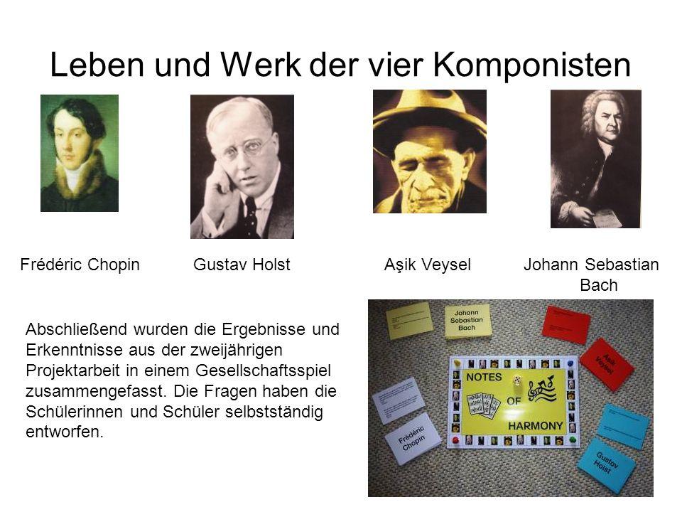 Leben und Werk der vier Komponisten