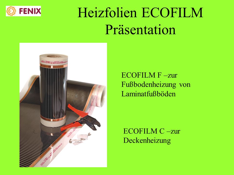 Heizfolien ECOFILM Präsentation