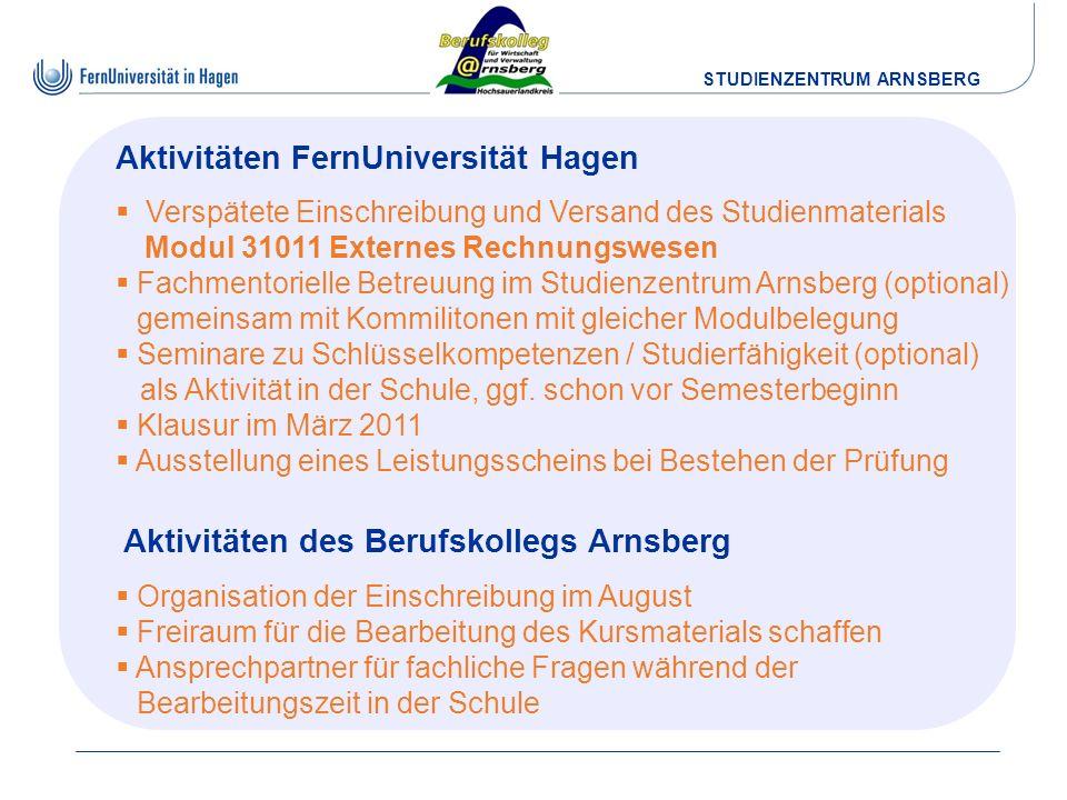 Aktivitäten FernUniversität Hagen