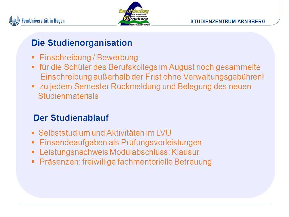 Die Studienorganisation