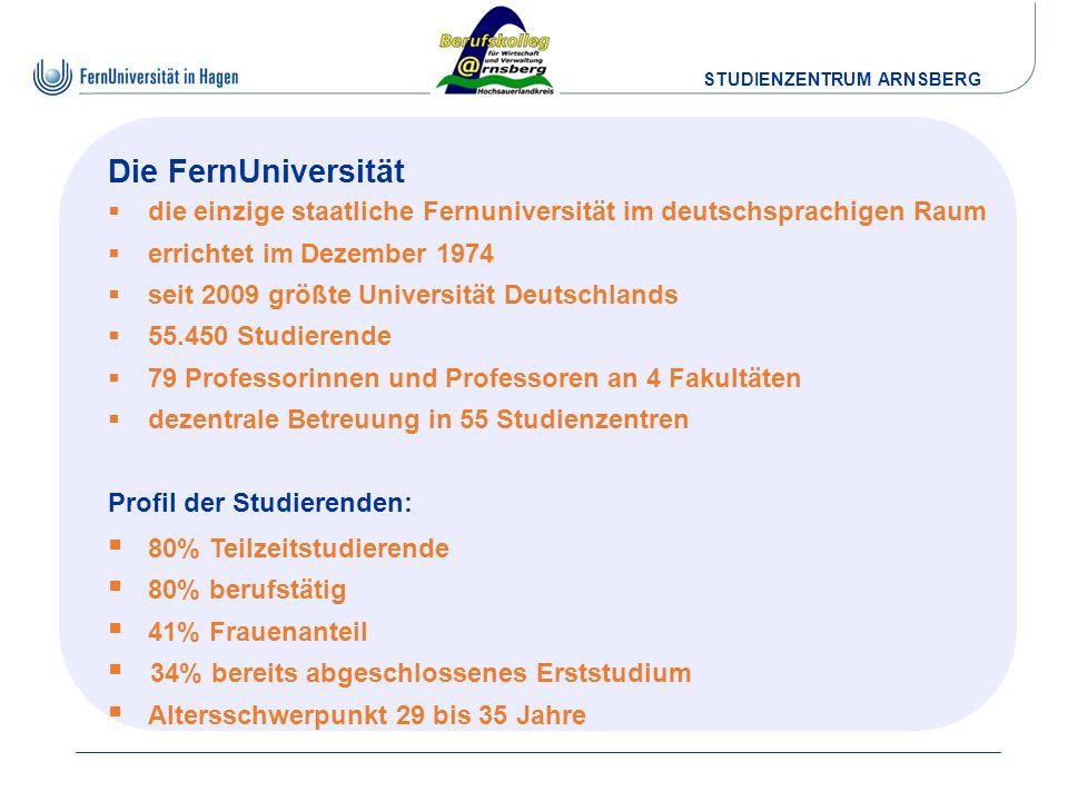 Die FernUniversität die einzige staatliche Fernuniversität im deutschsprachigen Raum. errichtet im Dezember 1974.