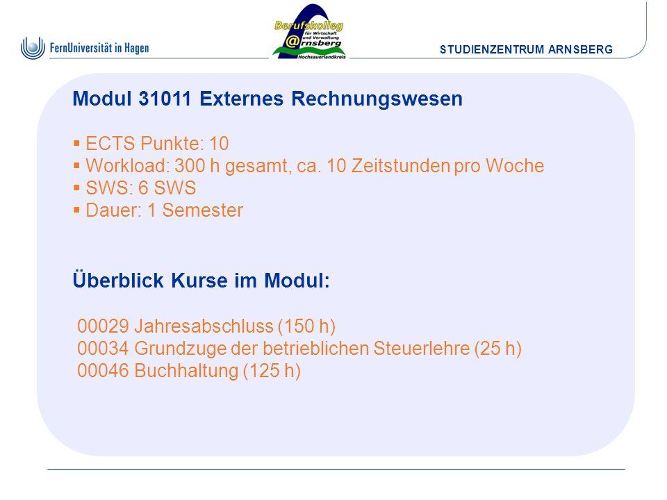Modul 31011 Externes Rechnungswesen