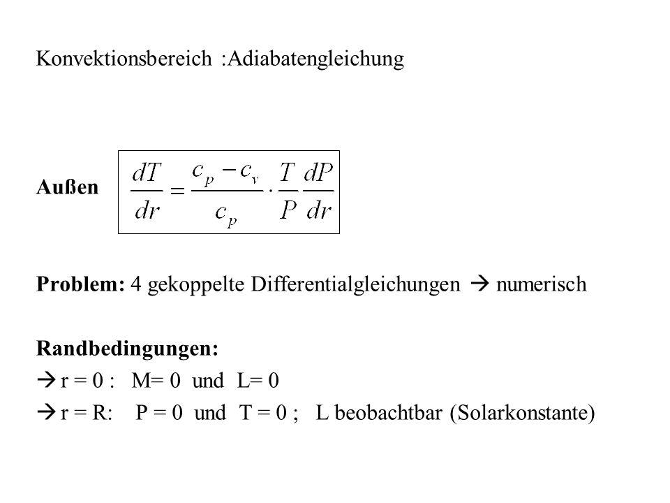 Konvektionsbereich :Adiabatengleichung