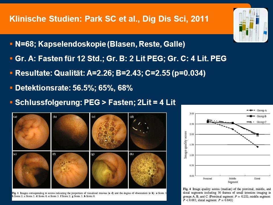 Klinische Studien: Park SC et al., Dig Dis Sci, 2011