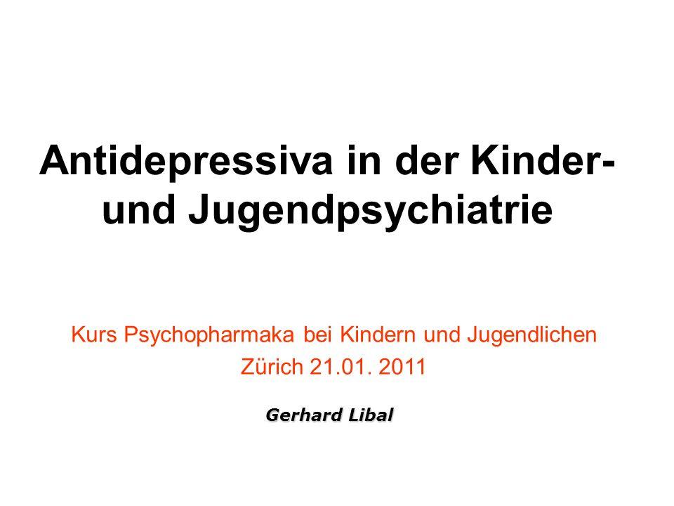 Antidepressiva in der Kinder- und Jugendpsychiatrie