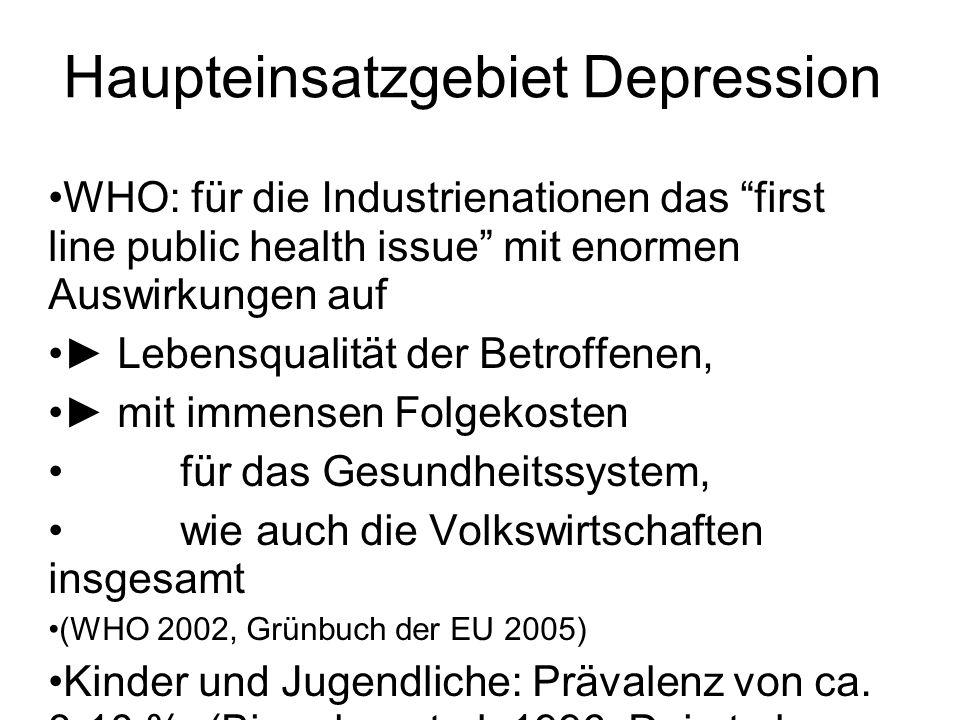 Haupteinsatzgebiet Depression