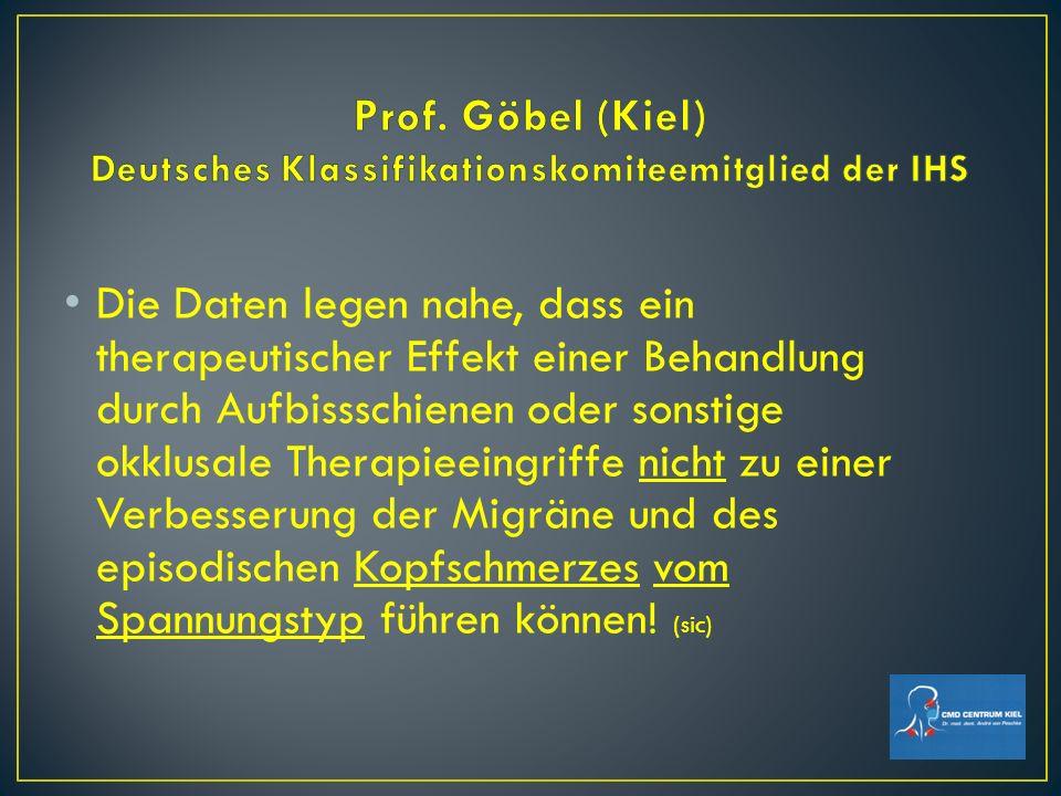 Prof. Göbel (Kiel) Deutsches Klassifikationskomiteemitglied der IHS