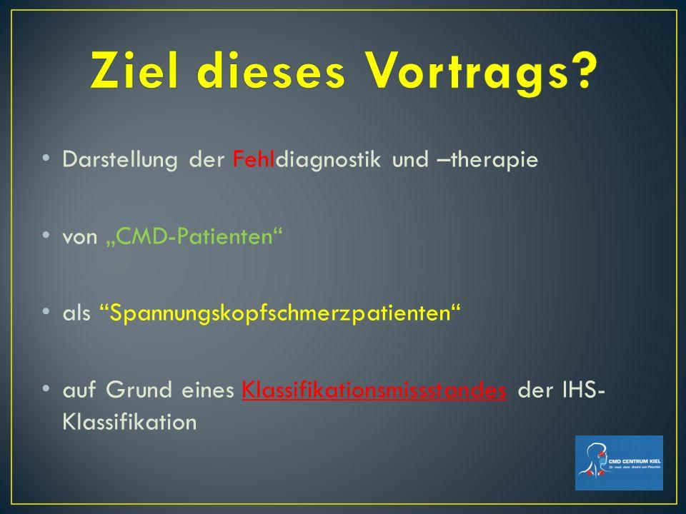 Ziel dieses Vortrags Darstellung der Fehldiagnostik und –therapie