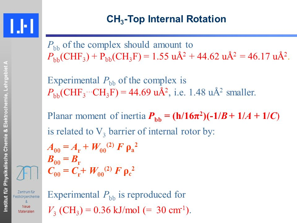 CH3-Top Internal Rotation