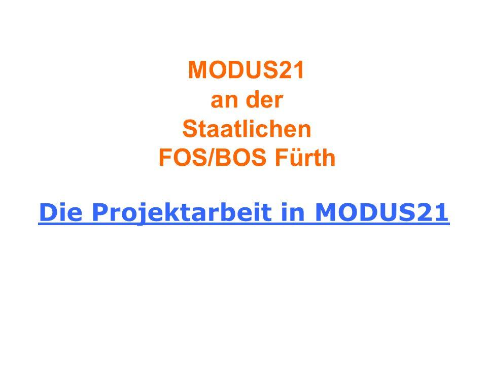 MODUS21 an der Staatlichen FOS/BOS Fürth