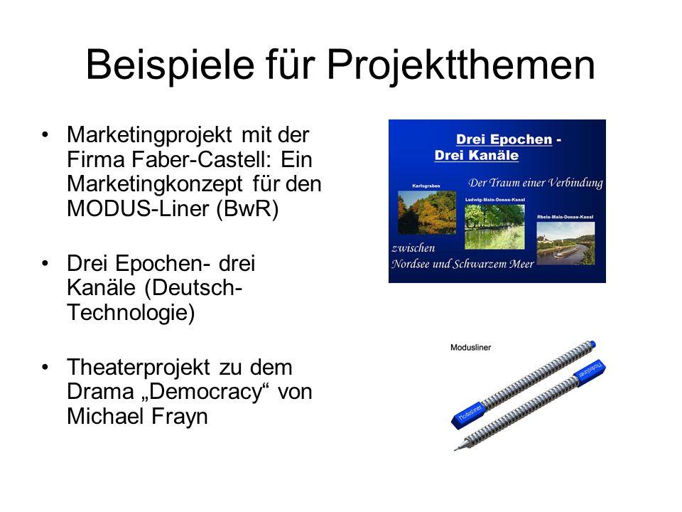 Beispiele für Projektthemen